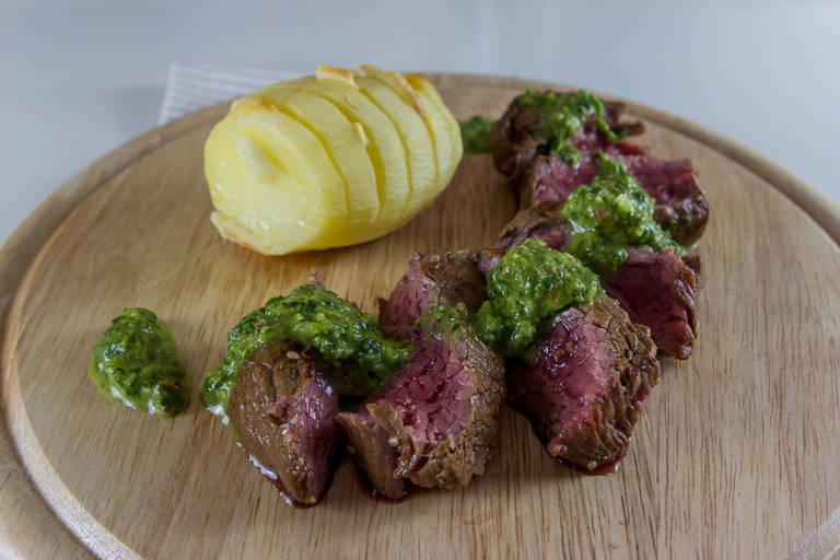 Steak s chimichurri omako